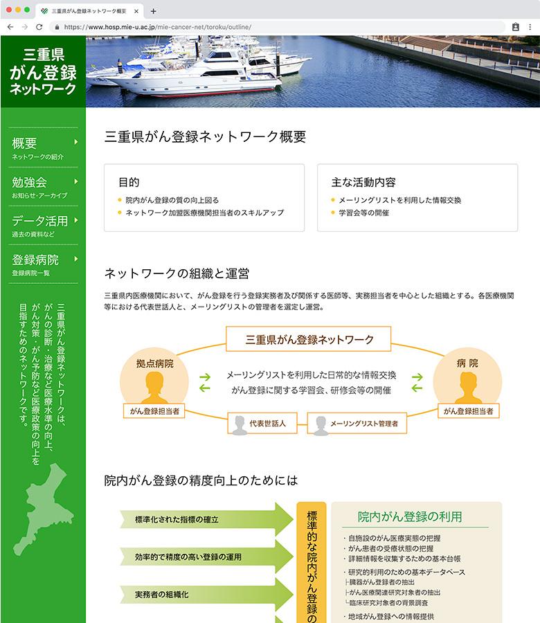 三重県がん登録ネットワーク概要ページ